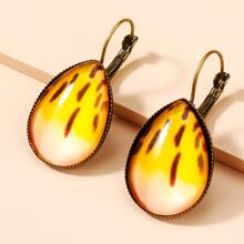 Water Drop Design Stud Earrings