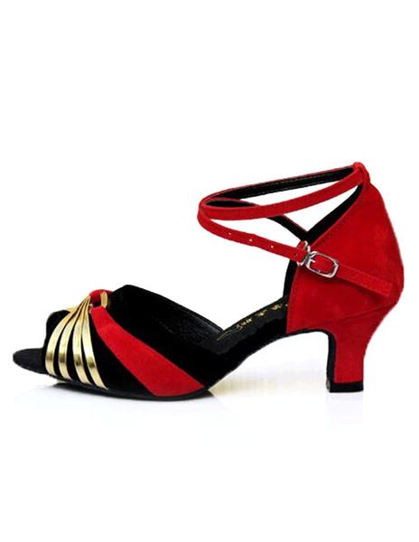 Milanoo Blue Latin Dance Sandals Chic Ballroom Heels for Women