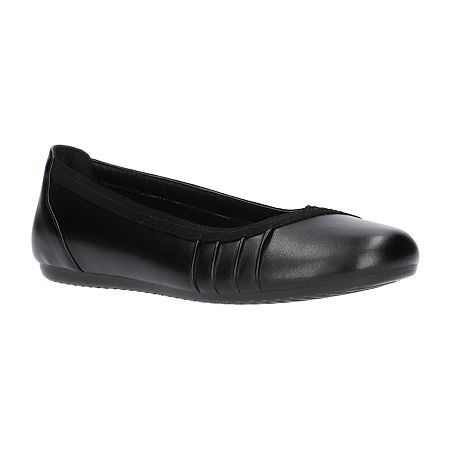 Easy Street Womens Denni Ballet Flats, 9 Wide, Black