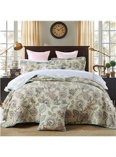 Ethnic Style Jacobean Print 3-Piece Cotton Bed in a Bag