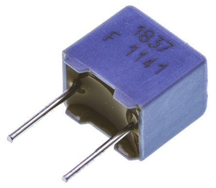 Vishay 22nF Polypropylene Capacitor PP 63 V ac, 100 V dc ±1% Tolerance Through Hole MKP 1837 Series (10)