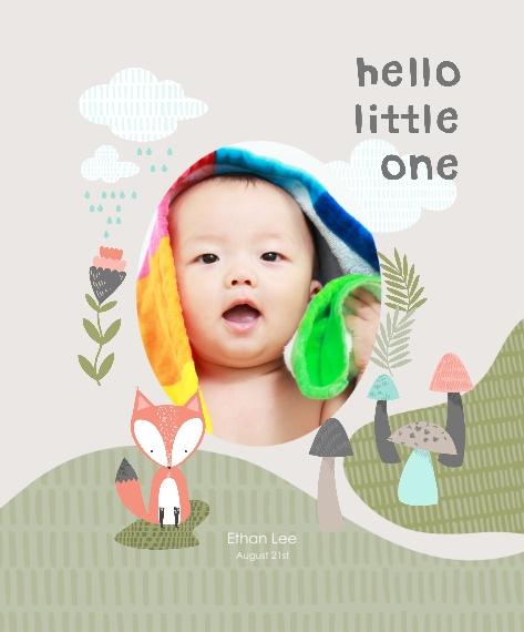 Baby + Kids Framed Canvas Print, Oak, 16x20, Home Décor -Little Fox