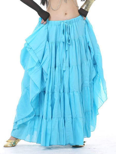 Milanoo Belly Dance Skirt Layered Ruffle Belly Dance Wear For Women