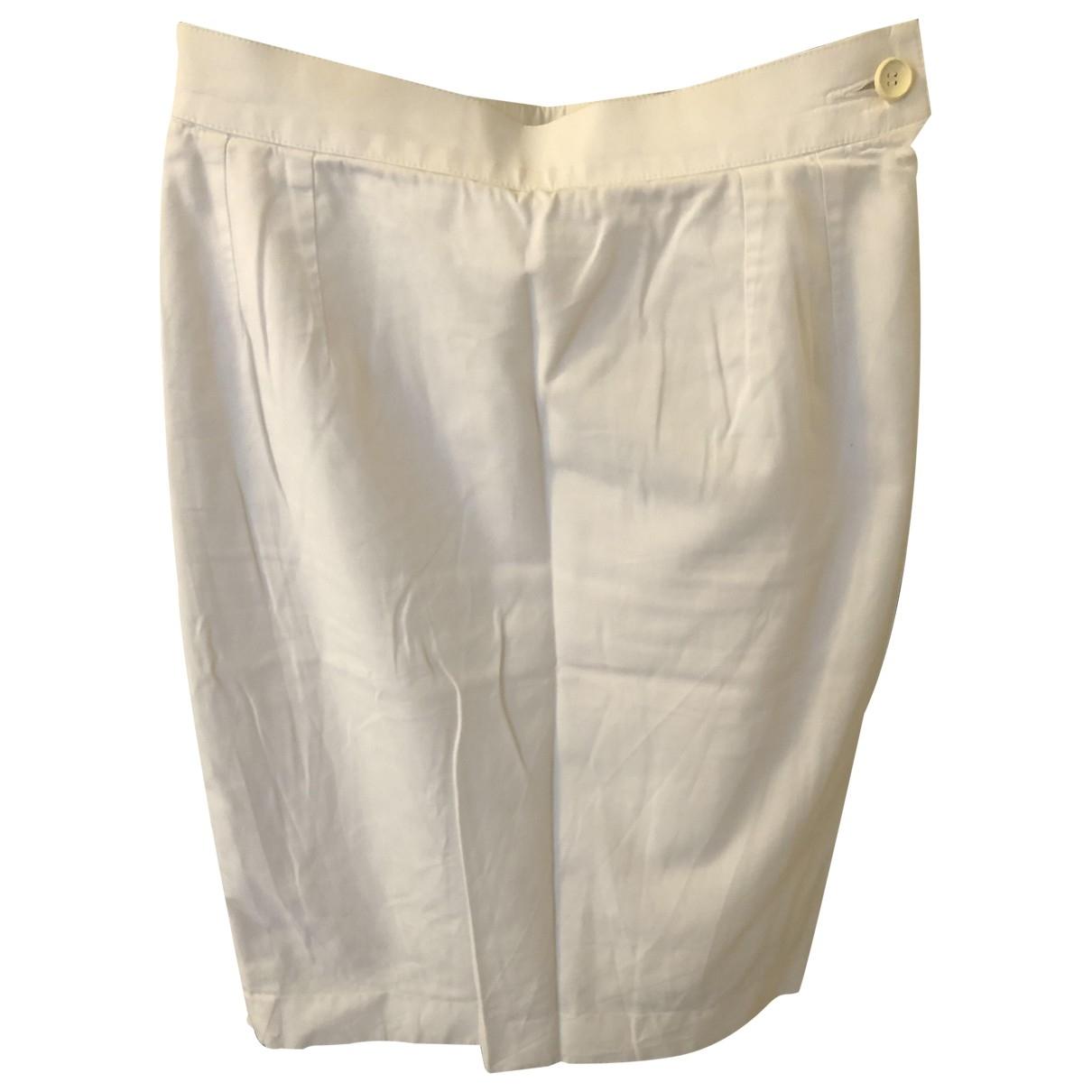 Yves Saint Laurent \N White Cotton skirt for Women 38 FR