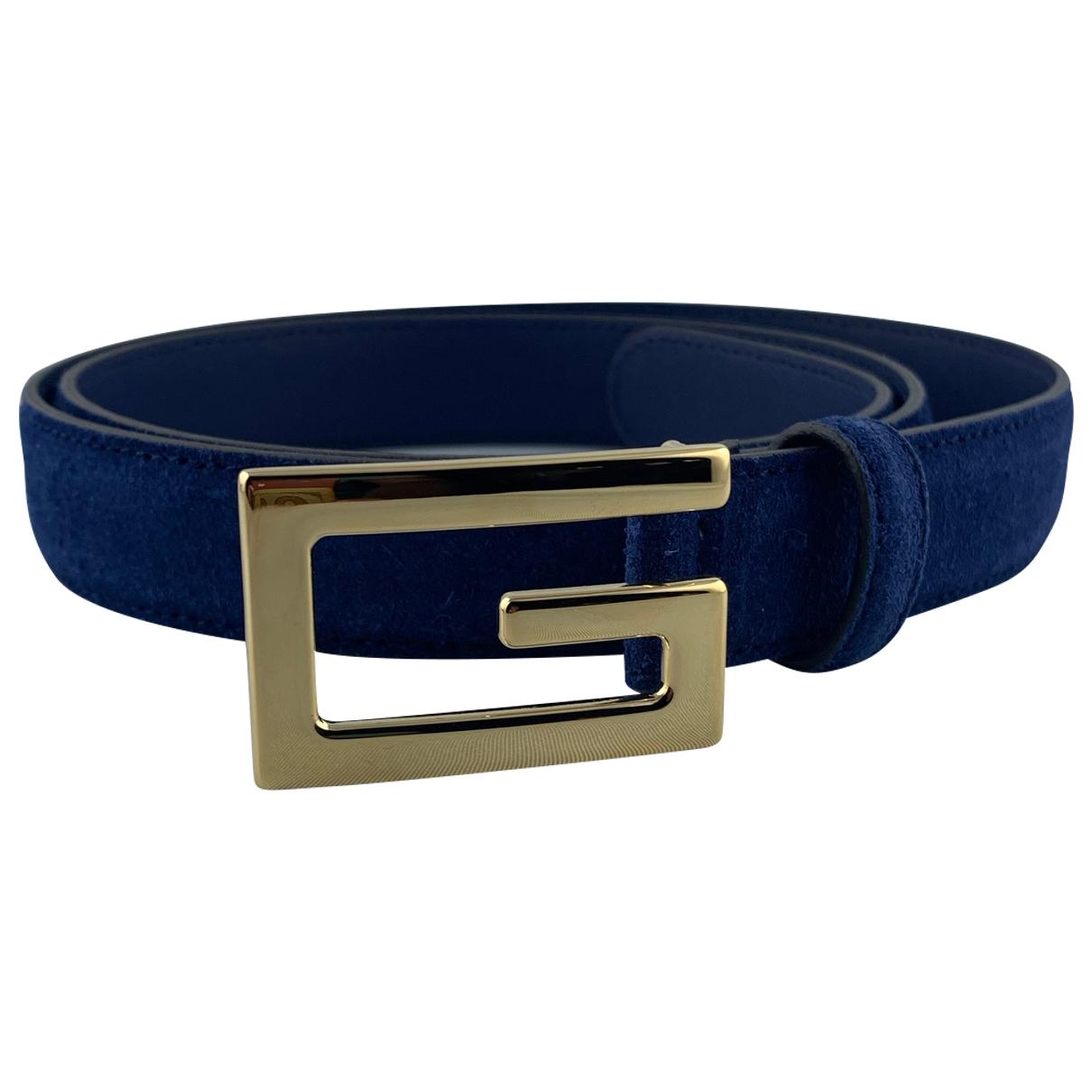 Gucci \N Blue Suede belt for Men 90 cm