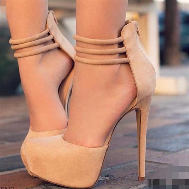 Ericdress Fashion Round Toe Platform Stiletto Heel Pumps