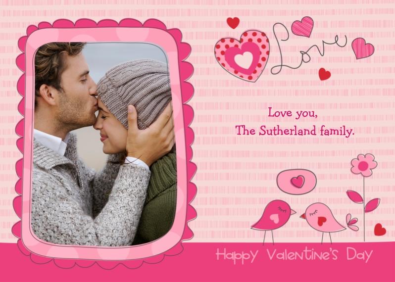 Valentine's Cards 5x7 Cards, Premium Cardstock 120lb, Card & Stationery -Love Birds