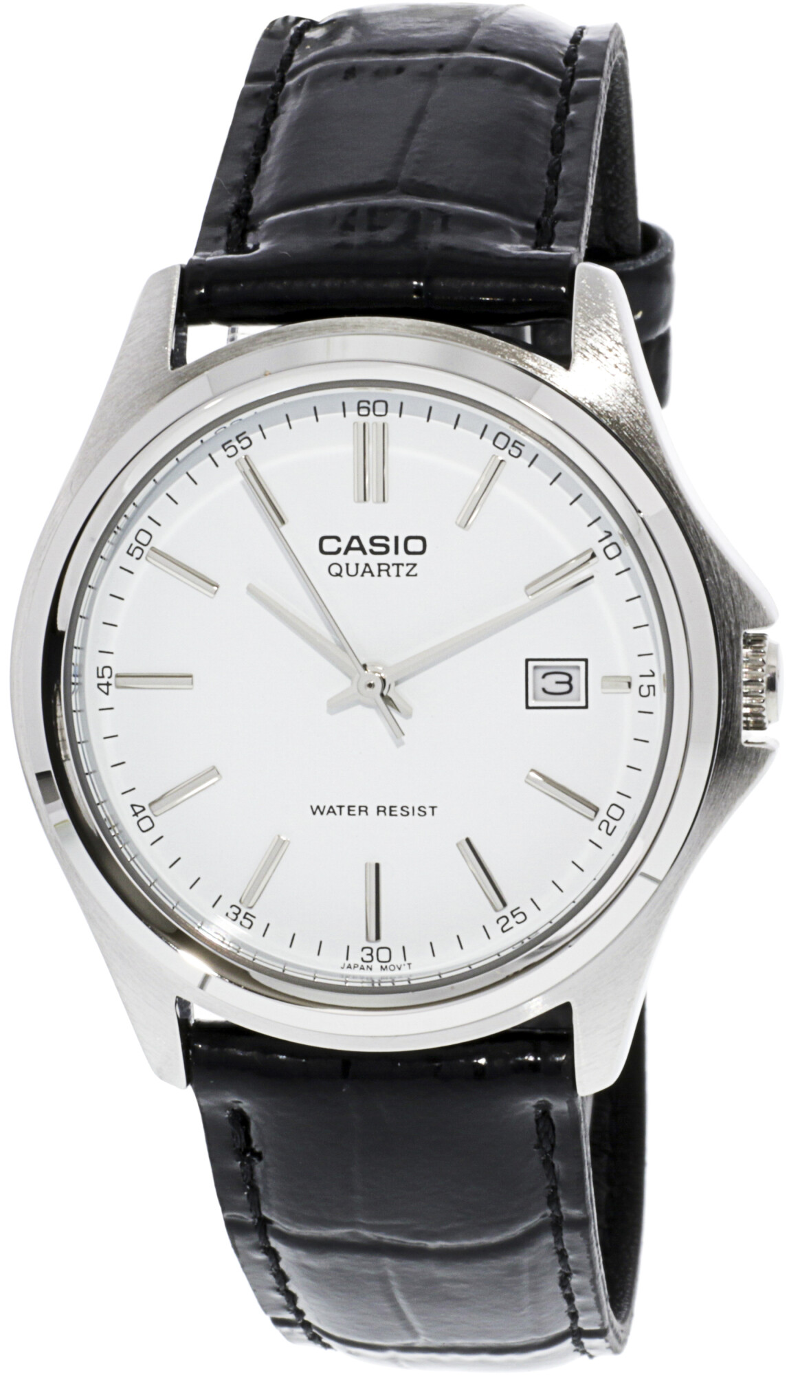 Casio Men's Core MTP1183E-7A White Leather Quartz Fashion Watch