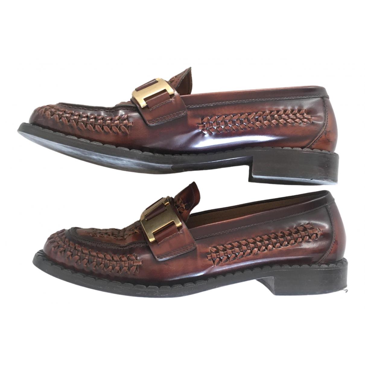 Prada \N Brown Leather Flats for Women 40 EU