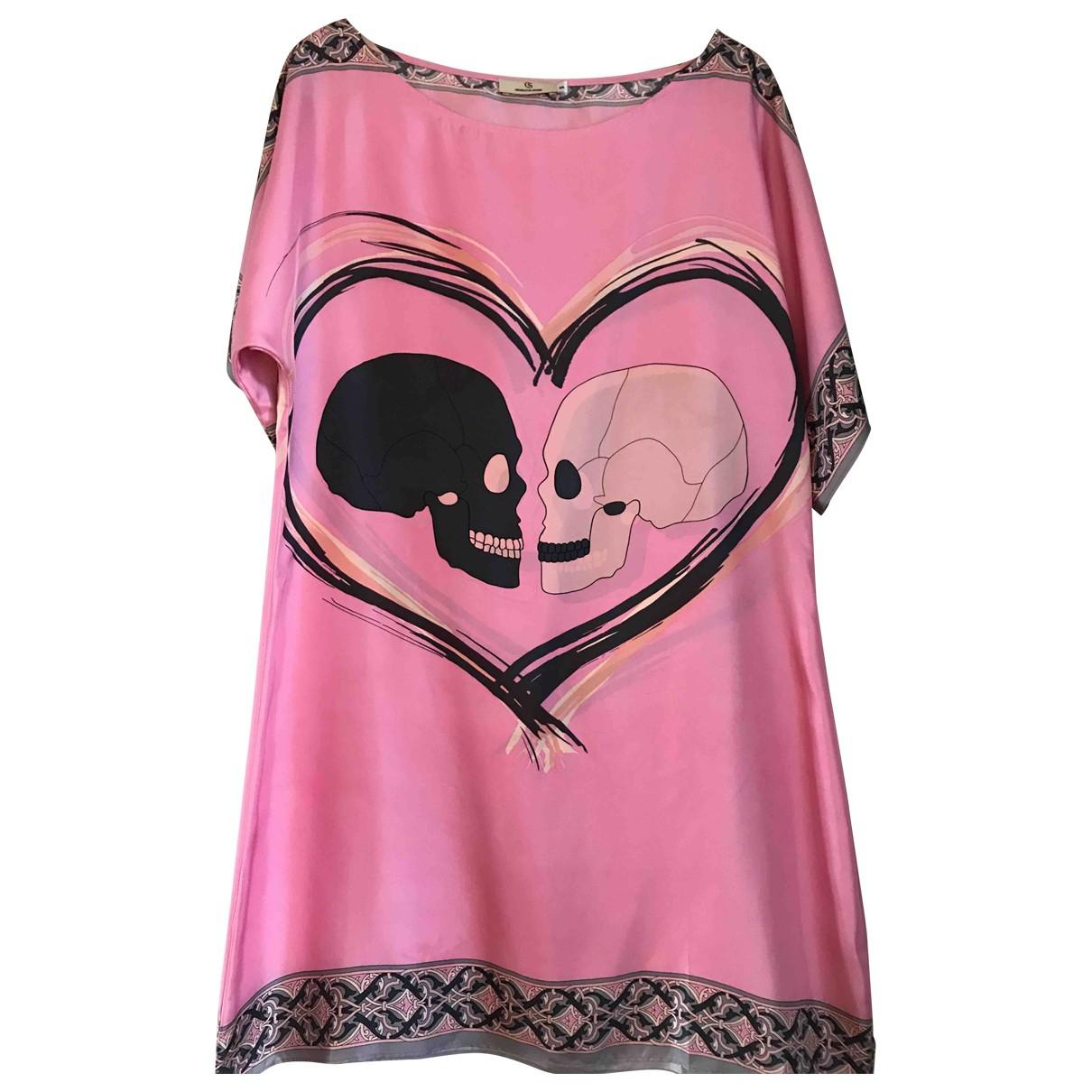 Charlotte Sparre \N Pink Silk dress for Women 36 FR