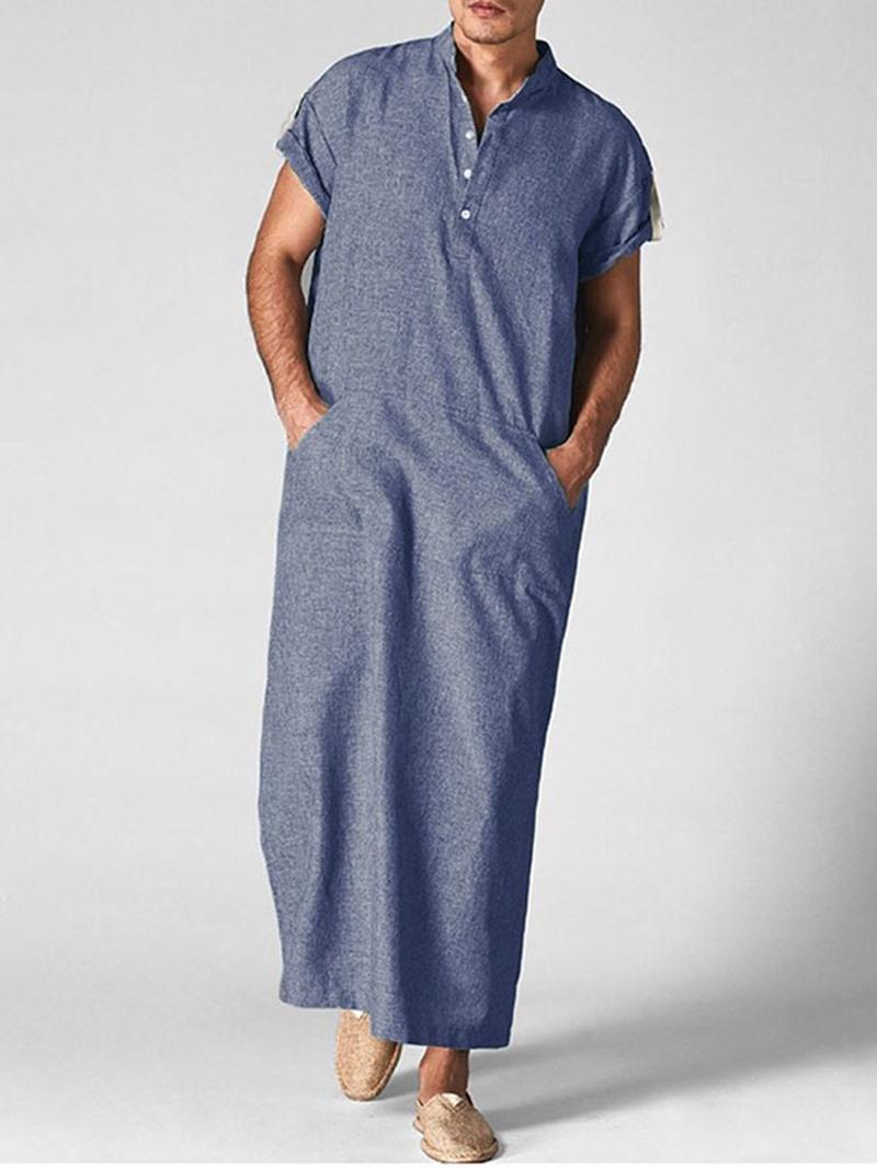 Ericdress Pocket Plain Straight Summer Shirt