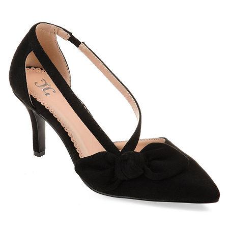 Journee Collection Womens Jilli Slip-on Pointed Toe Stiletto Heel Pumps, 9 Medium, Black