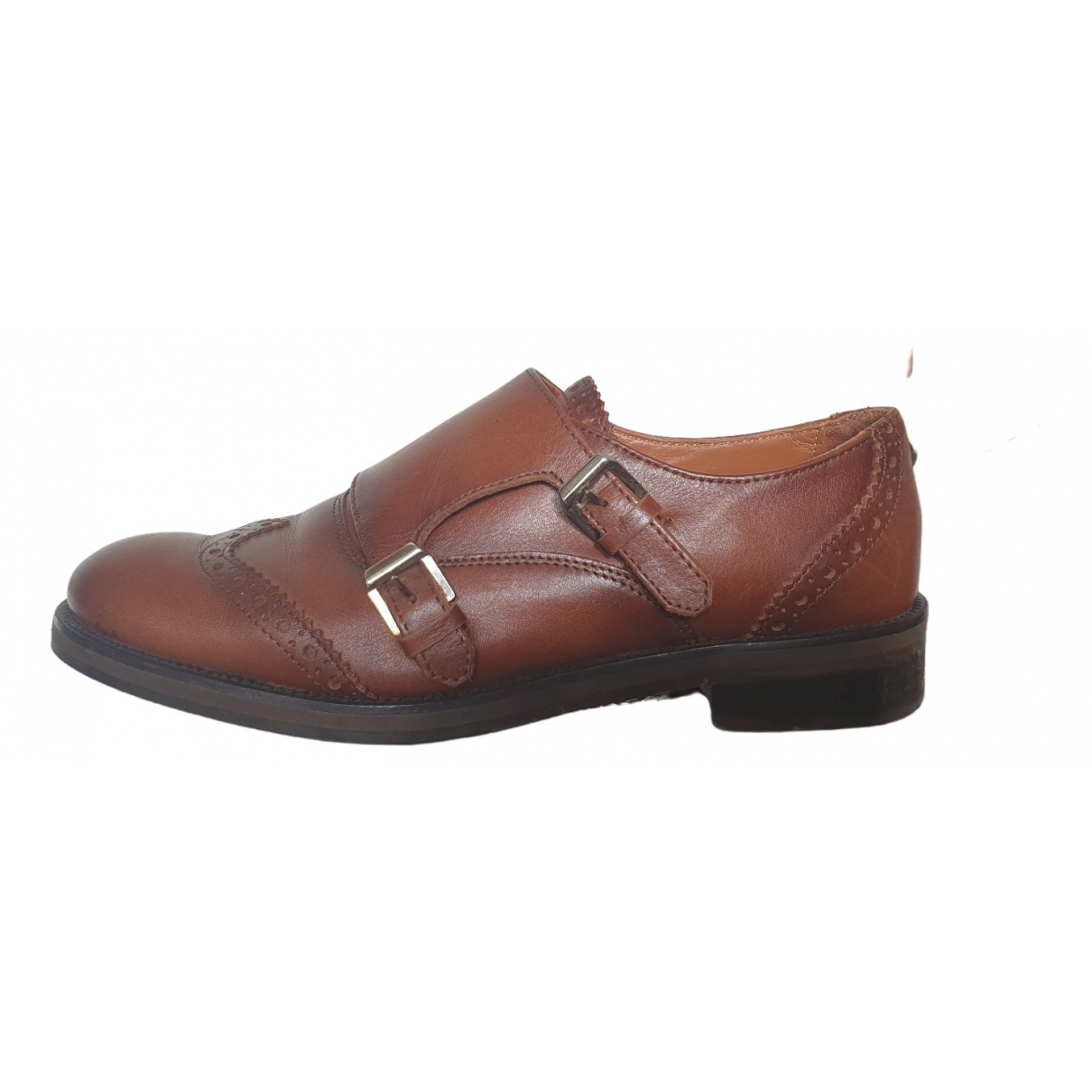 Massimo Dutti \N Brown Leather Mules & Clogs for Women 39 EU