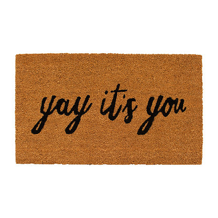 Yay It's You Rectangular Outdoor Doormat, One Size , Multiple Colors