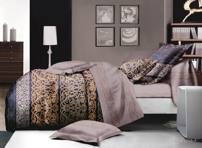 Gorgeous Scroll Print Polyester 4-Piece Bedding Sets/Duvet Cover