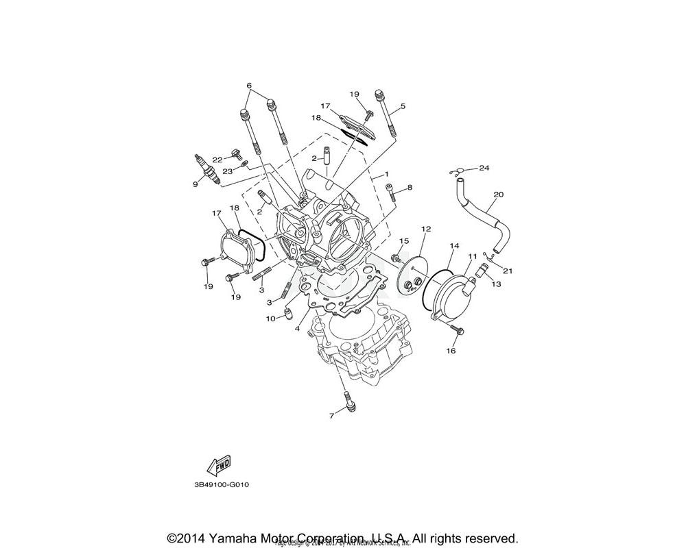 Yamaha OEM 1S3-11186-00-00 COVER, CYLINDER HEAD SIDE 2