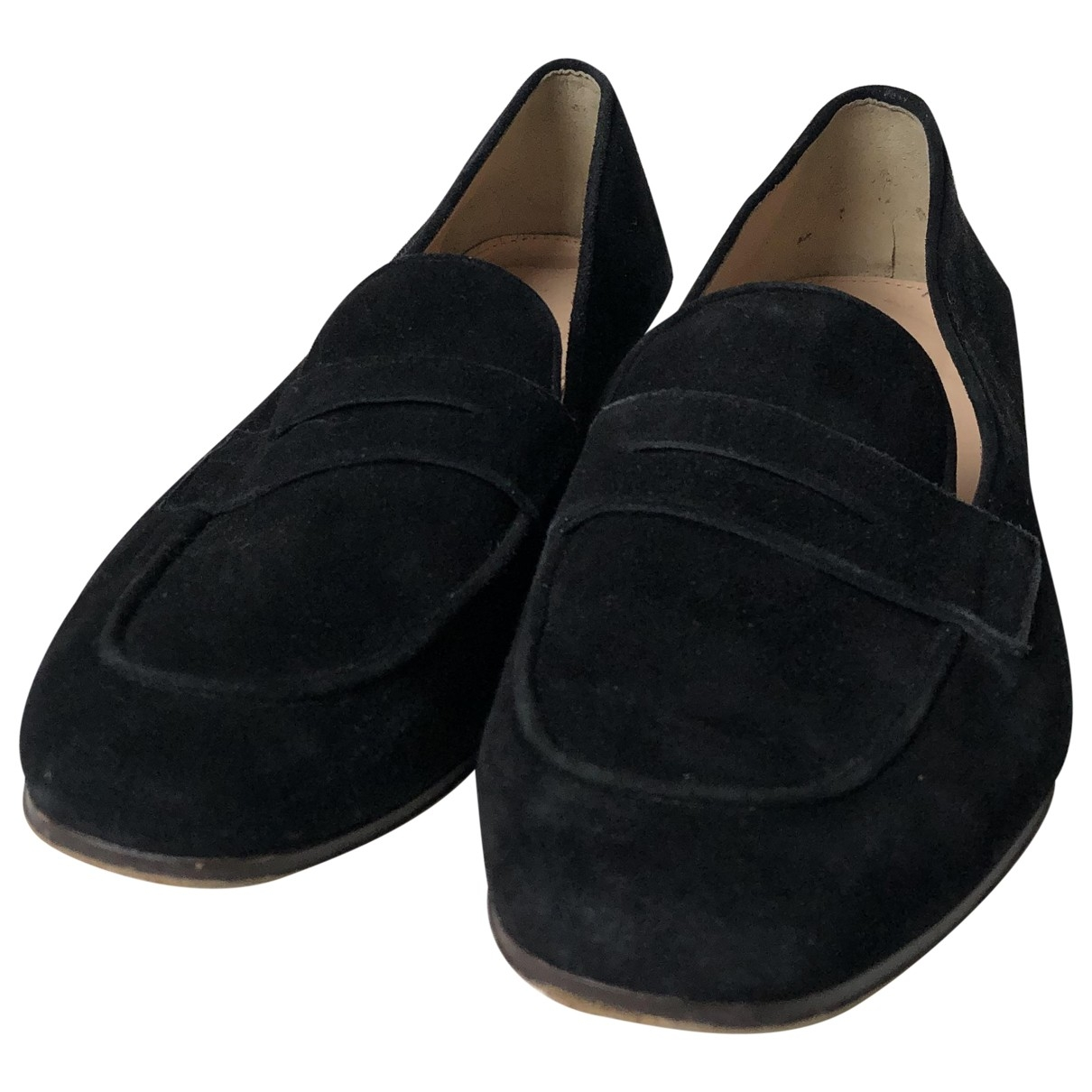 J.crew \N Black Suede Flats for Women 7.5 US