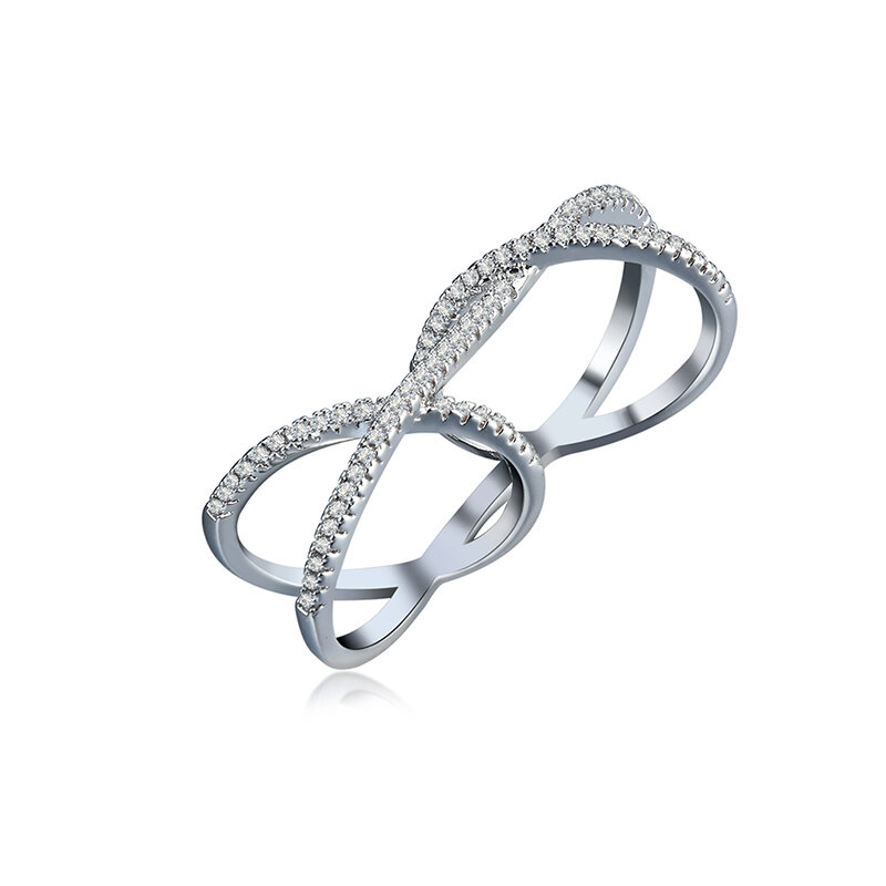 Women's Special Ring Two Ring Zircon Attach Ring