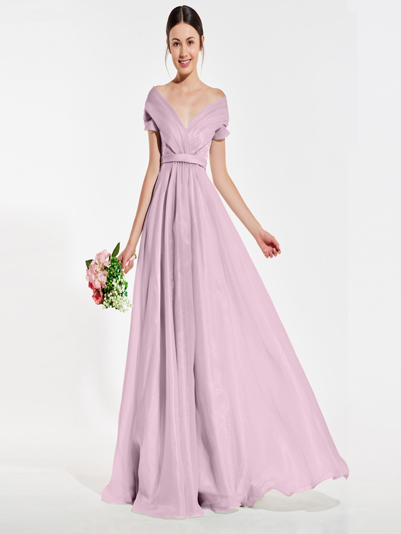 Ericdress Off-The-Shoulder A-Line Bridesmaid Dress