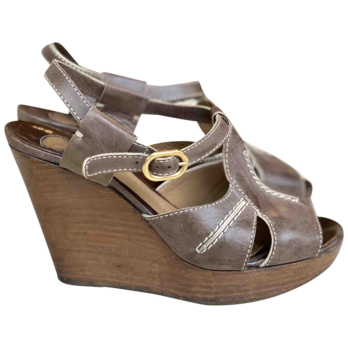 Chloé \N Brown Leather Sandals for Women 36 EU