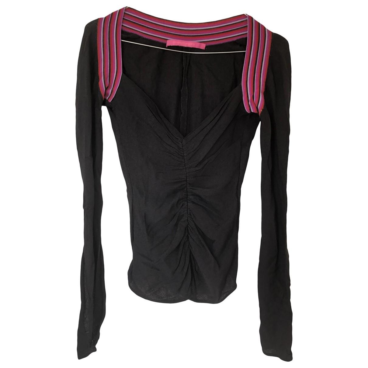 Emanuel Ungaro \N Black Cotton  top for Women 36 FR