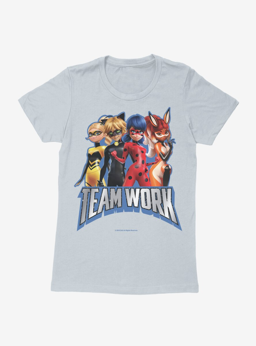 Miraculous: Tales Of Ladybug And Cat Noir Team Work Womens T-Shirt