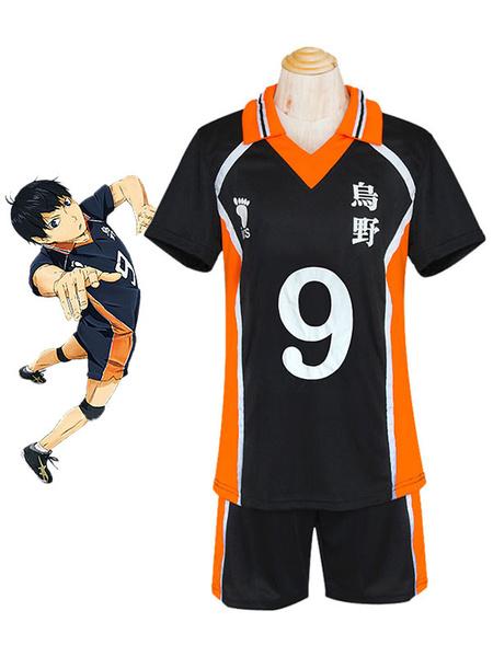 Milanoo Haikyuu!! Kageyama Tobio Cosplay Costume No. 9 Jersey Halloween