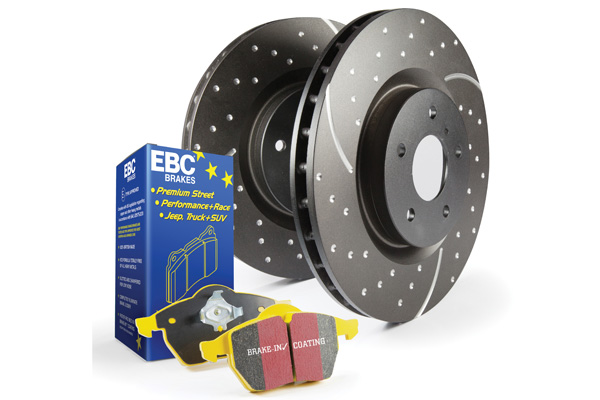 EBC Brakes S5KF1269 S5KF Kit Number Front Disc Brake Pad and Rotor Kit DP41539R+GD7507 Chevrolet Front 2.0L 4-Cyl