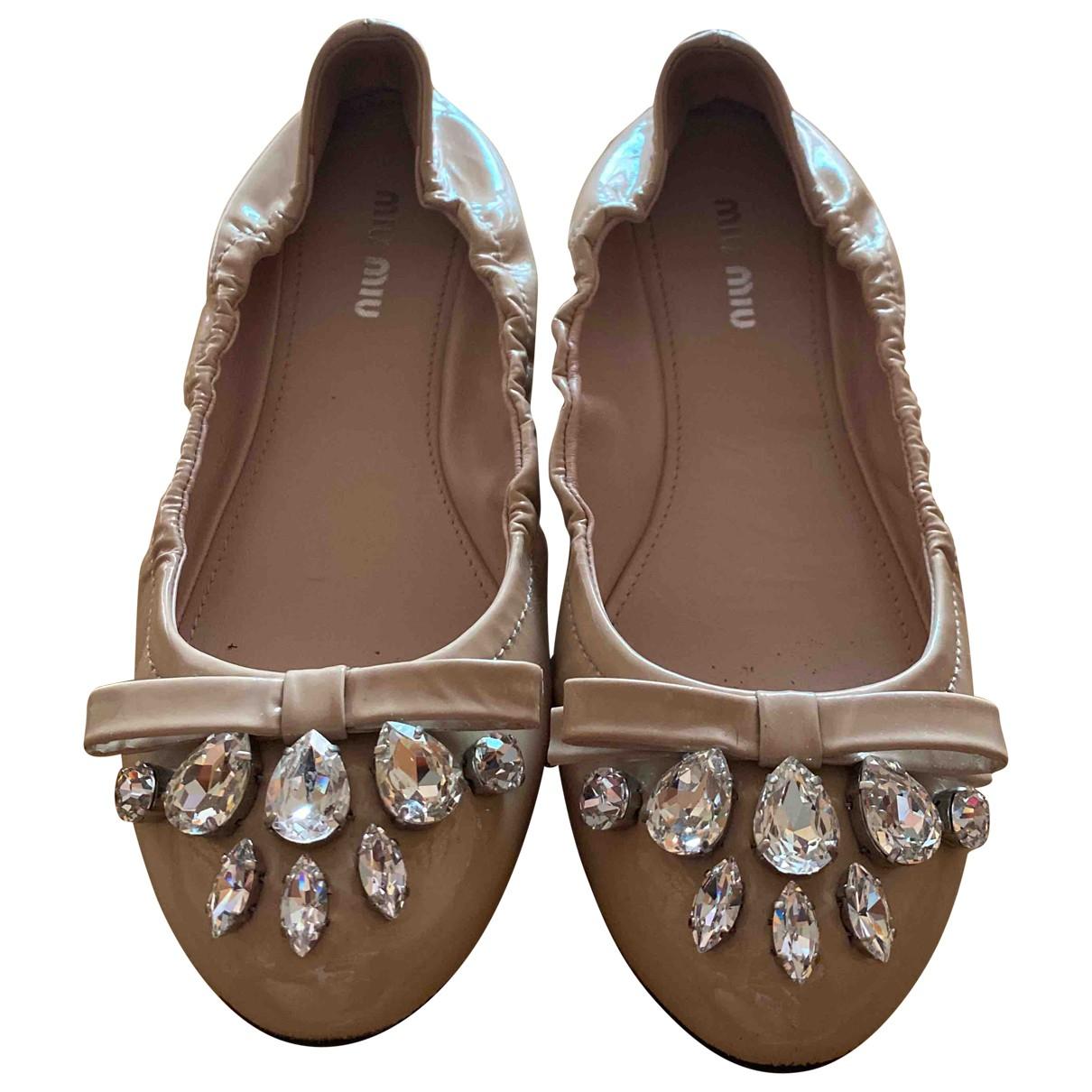 Miu Miu \N Pink Patent leather Ballet flats for Women 36.5 EU