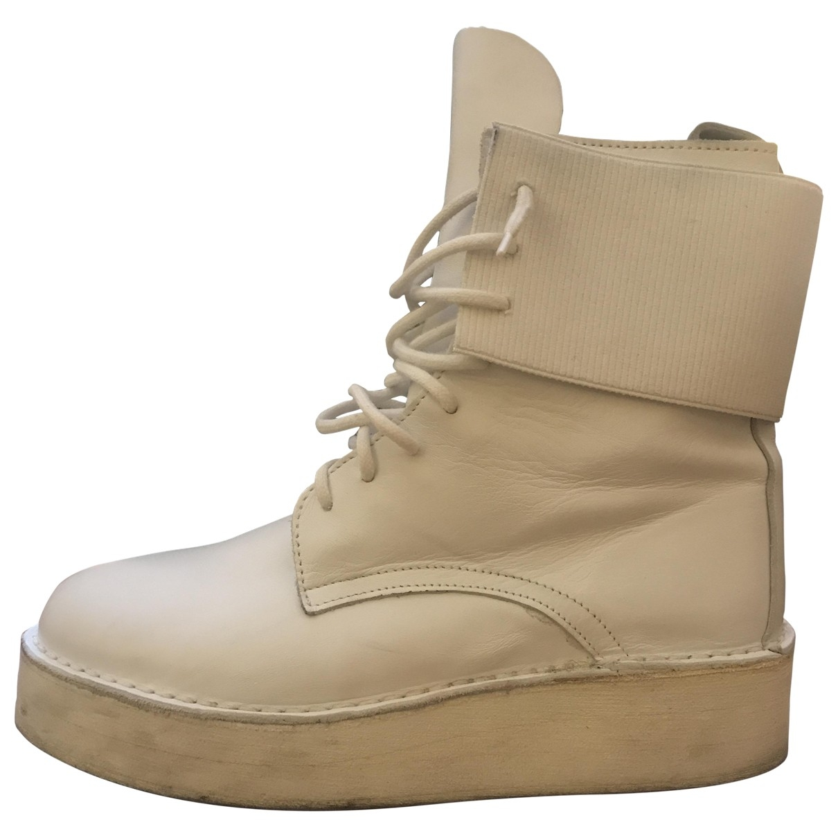 Odeur \N White Leather Boots for Men 41 EU