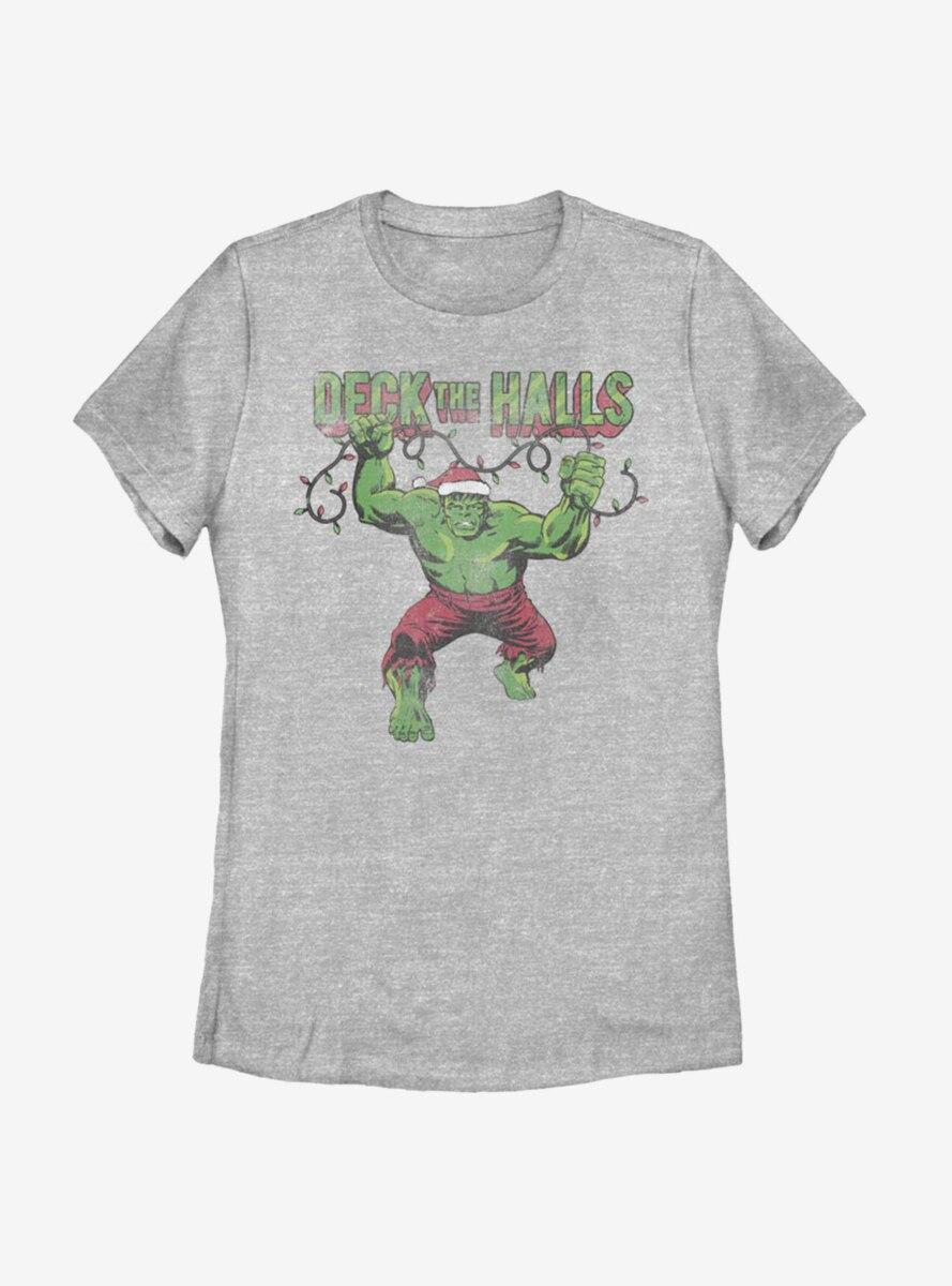 Marvel Hulk Deck The Halls Womens T-Shirt