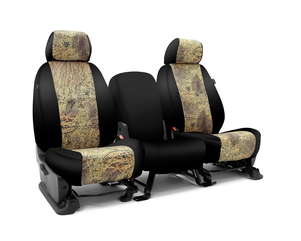 Coverking CSC2MO08JP9505 Skanda Custom Seat Covers 1 Row Neosupreme Mossy Oak Brush with Black Sides Front Jeep Grand Cherokee 2014-2021