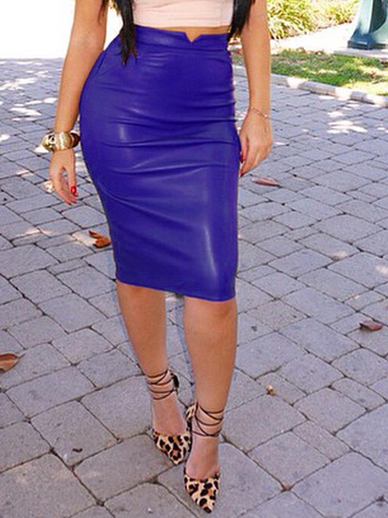 Ericdress Mid-Waist Knee-Length Skirts
