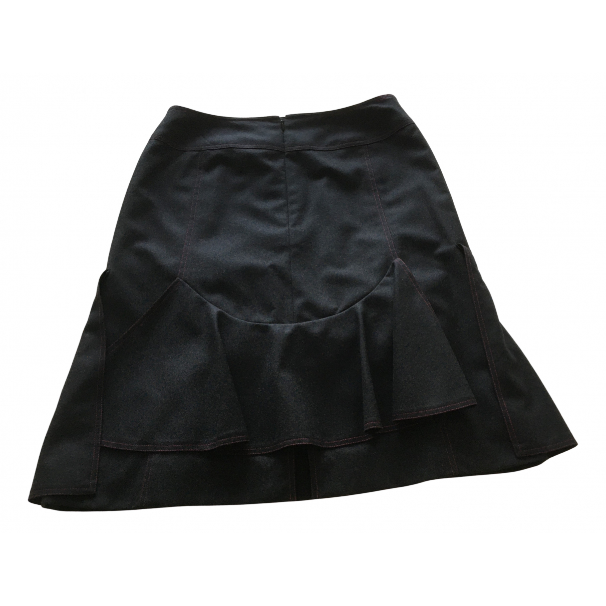 Chanel \N Grey Wool skirt for Women 44 FR