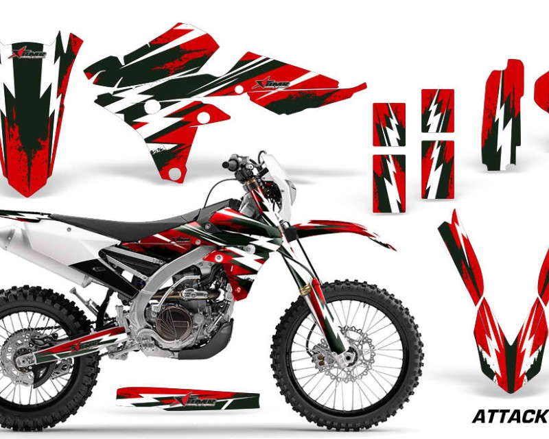 AMR Racing Dirt Bike Graphics Kit Decal Wrap For Yamaha WR250F 2015-2018 WR450F 2016-2018áATTACK RED