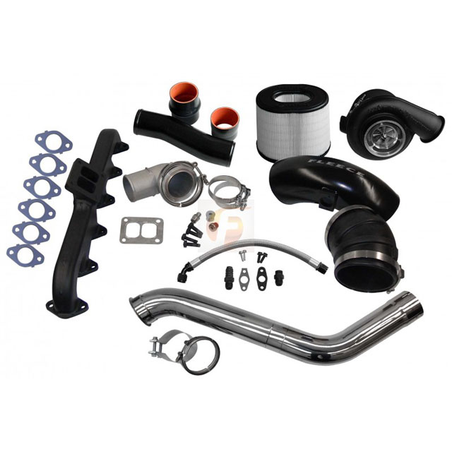 Fleece Performance FPE-674-2G-67-SS 2nd Gen Swap Kit with T4 Steed Speed Manifold and S467 Turbocharger For 4th Gen Cummins 2010-2012