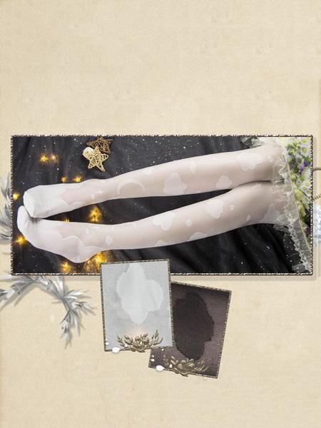 Milanoo Sweet Lolita Tights Cotton Cloud Rayon Knee High Socks