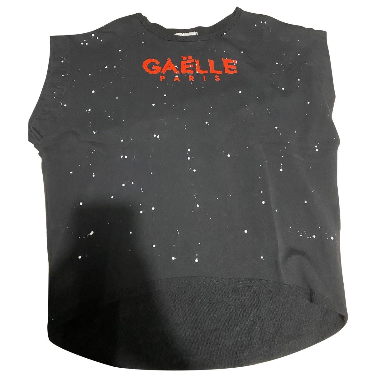 Gaelle Paris \N Black Cotton Knitwear for Women One Size IT