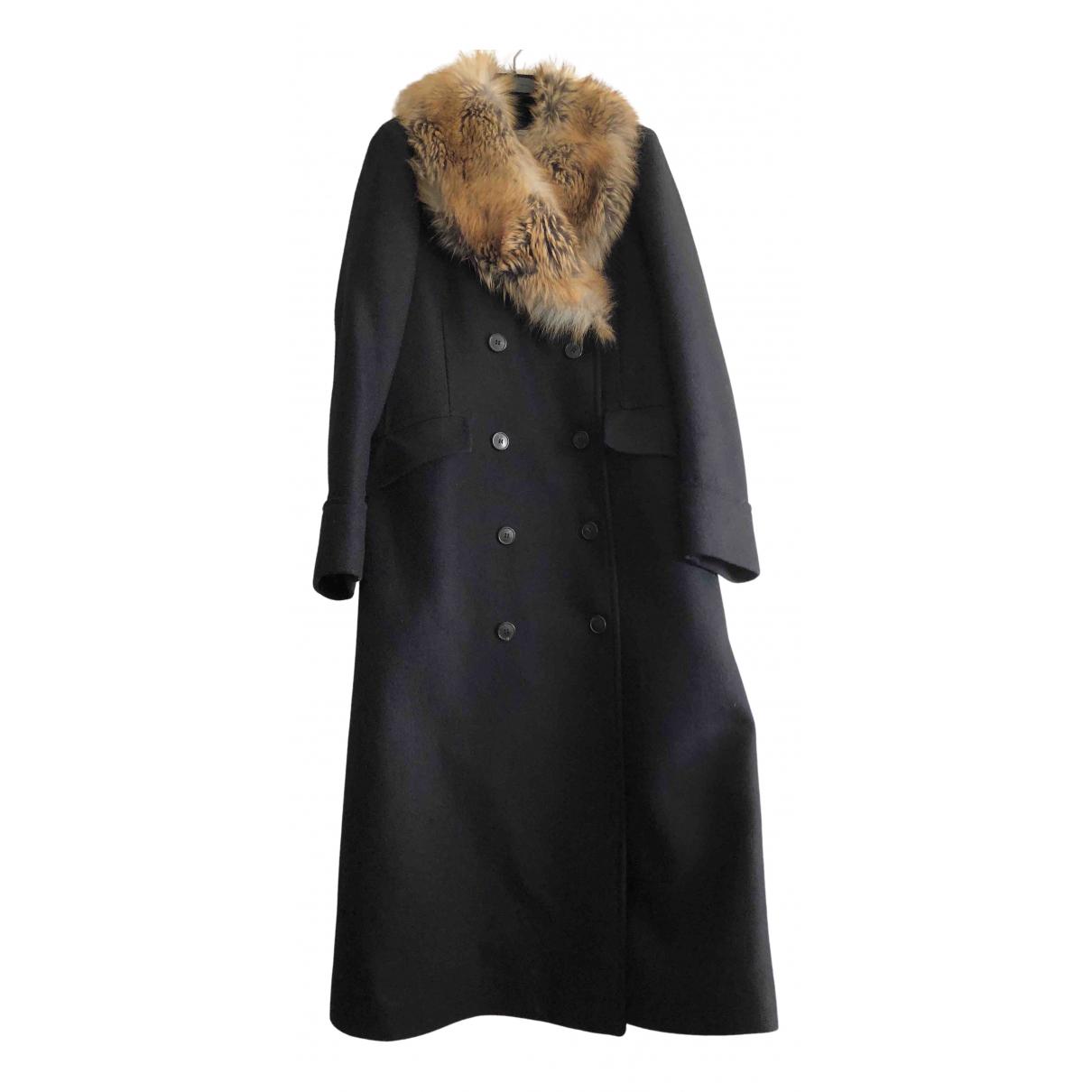 Dries Van Noten \N Black Wool coat for Women 40 IT