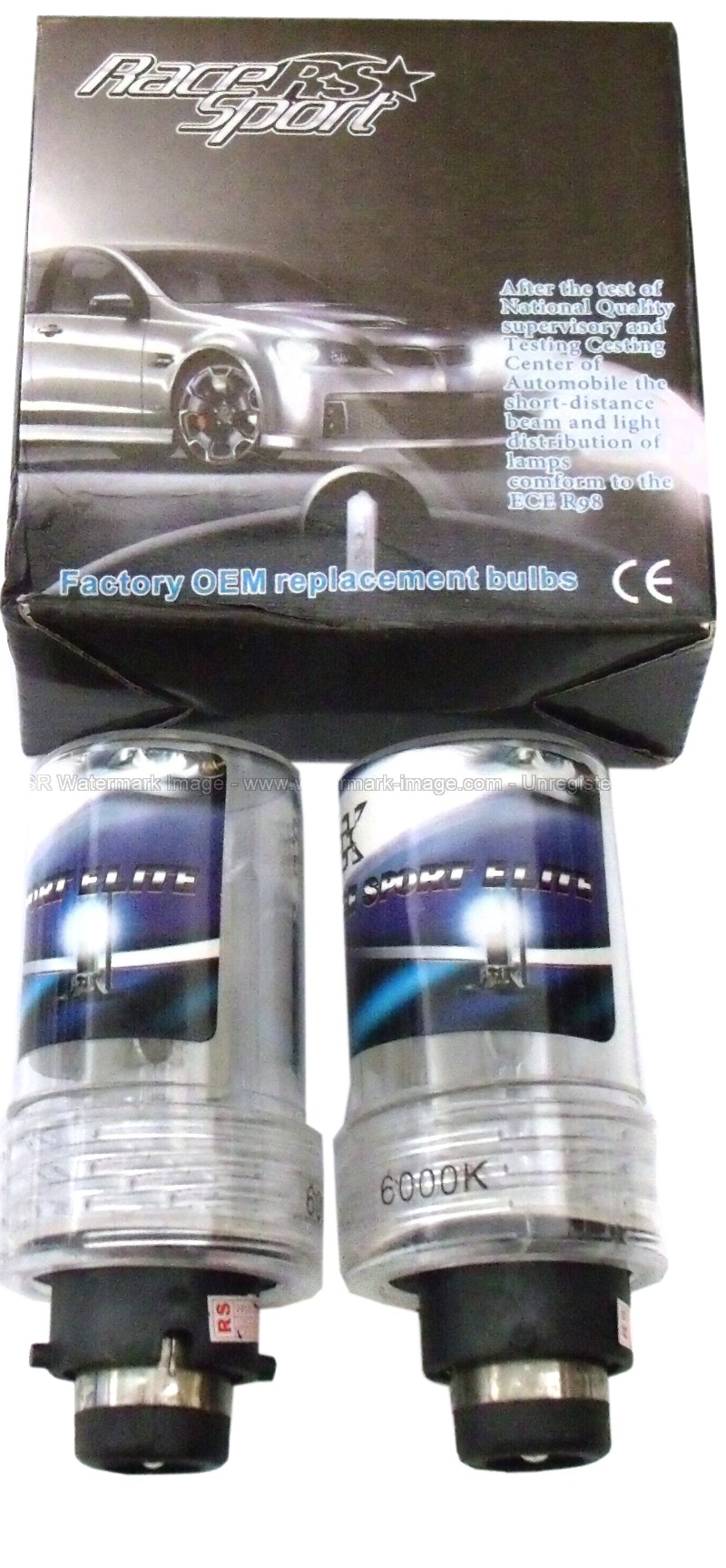 Race Sport Lighting RS-D46K-RB Professional Series D4 6K OEM Factory HID Replacement Bulbs