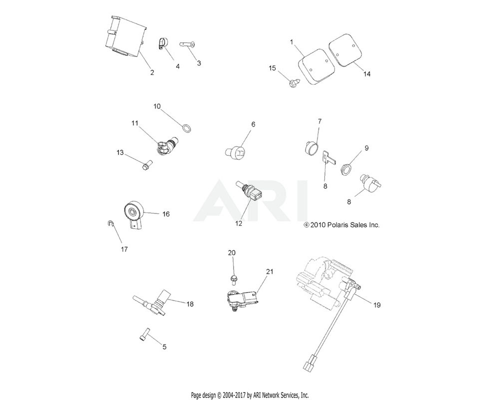 Polaris OEM 5413812 O-RING, TPS   [USED W/2410342]