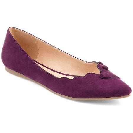 Journee Collection Womens Mila Ballet Flats, 7 1/2 Medium, Purple