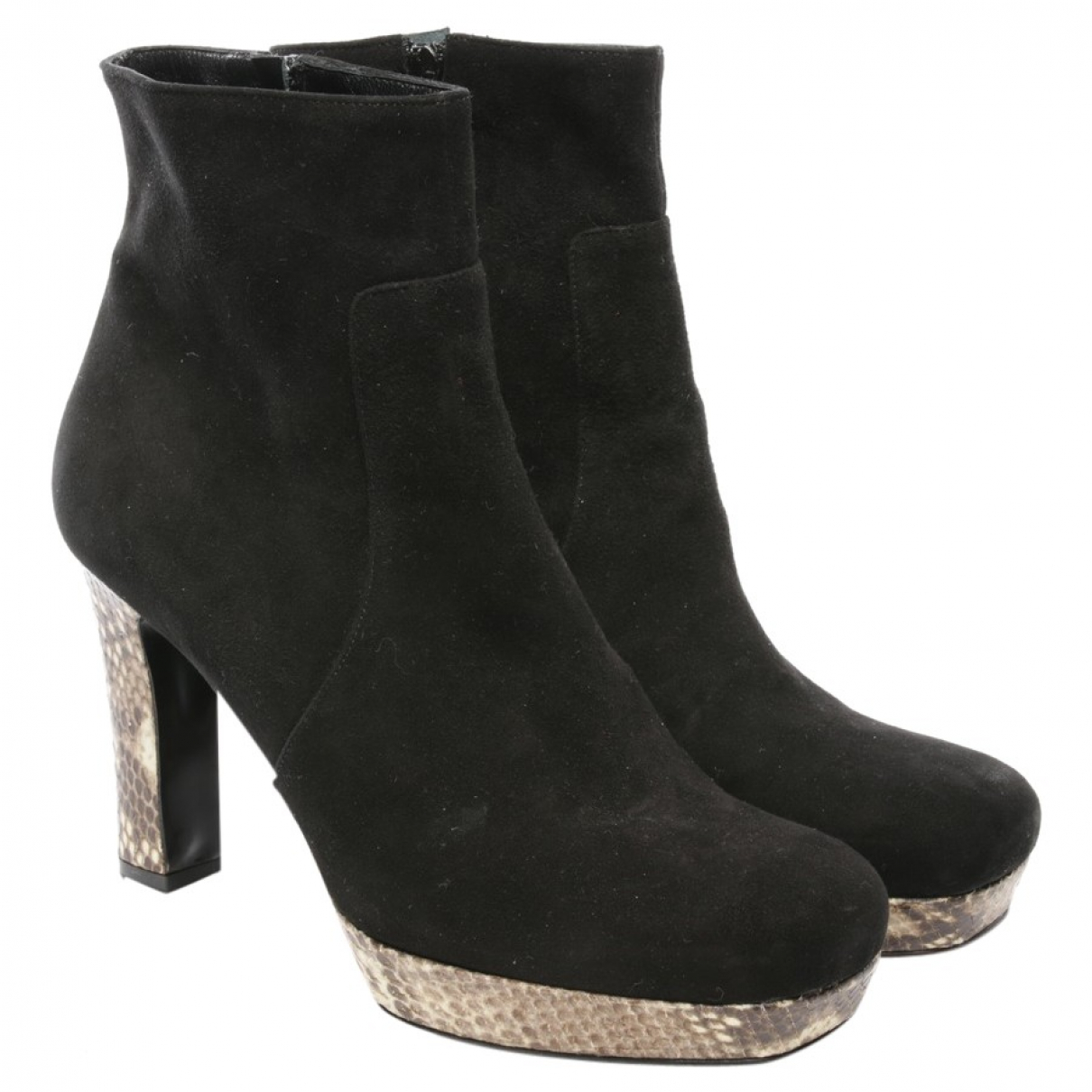 Autre Marque \N Black Leather Ankle boots for Women 41 EU