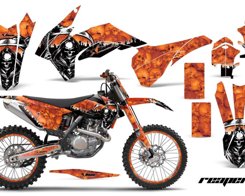 AMR Racing Graphics MX-NP-KTM-C9-13-16-RP O Kit Decal Wrap + # Plates For KTM SX/SXF/XCF/EXC/TC-F/XC/XCF-W 2013-2016áREAPER ORANGE