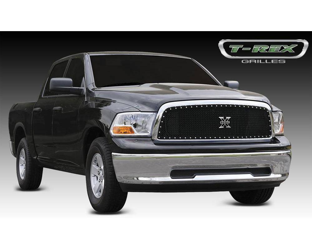 2009-2012 Ram 1500 X-Metal Grille, Black, 1 Pc, Insert, Chrome Studs - PN #6714571
