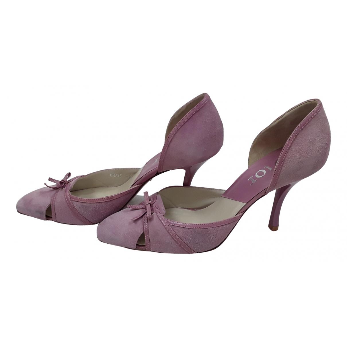 Dior \N Pink Suede Heels for Women 39 EU