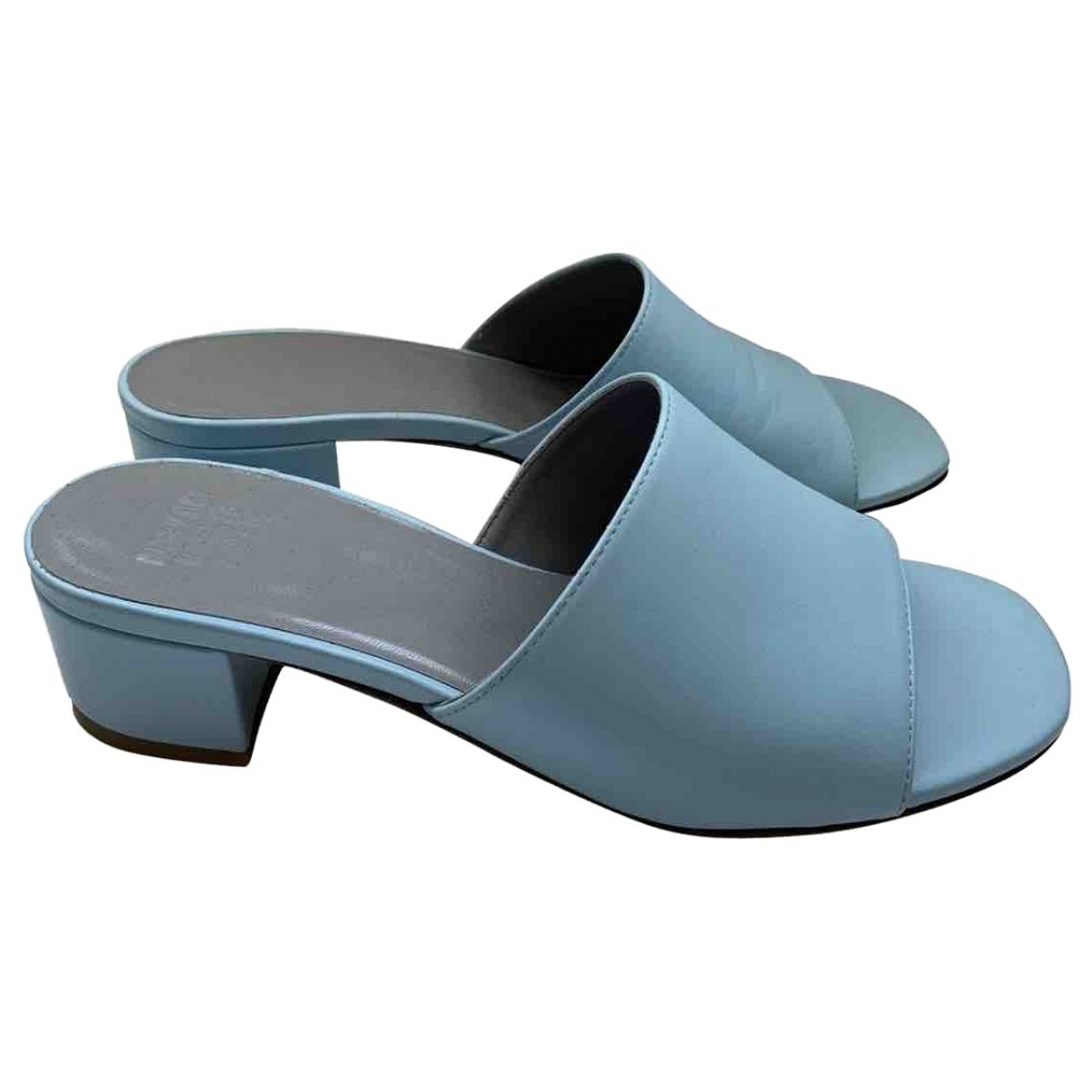Maryam Nassir Zadeh \N Blue Leather Sandals for Women 37.5 EU