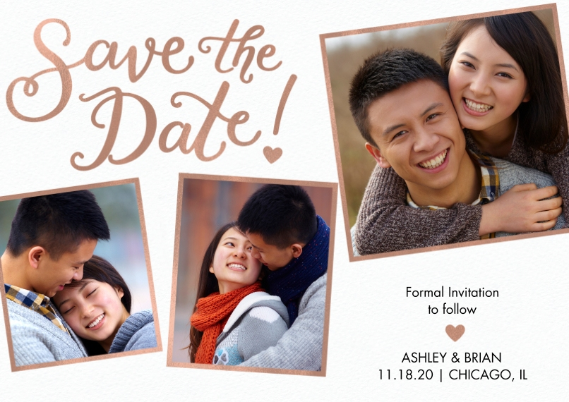 Save the Date Flat Glossy Photo Paper Cards with Envelopes, 5x7, Card & Stationery -Save the Date Frames by Tumbalina