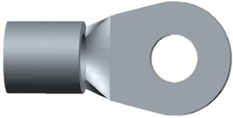 TE Connectivity , SOLISTRAND Uninsulated Crimp Ring Terminal, M5 Stud Size, 6.6mm² to 10.5mm² Wire Size (5)