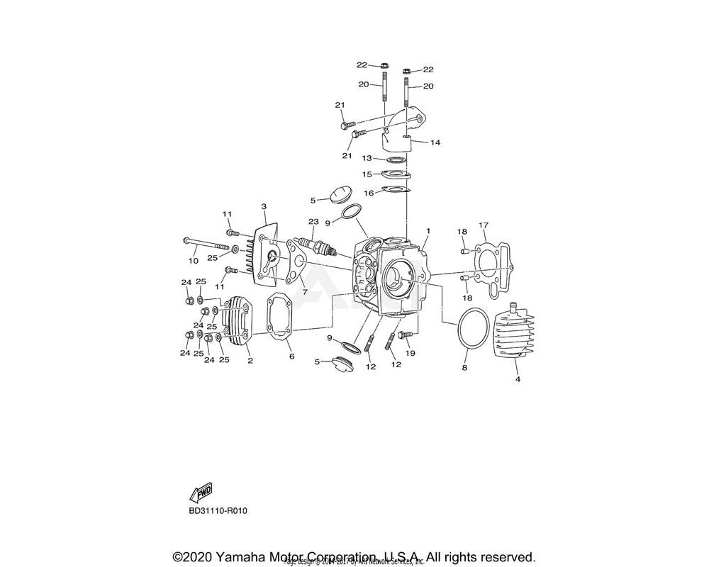 Yamaha OEM BD3-E1194-00-00 GASKET, HEAD COVER 2